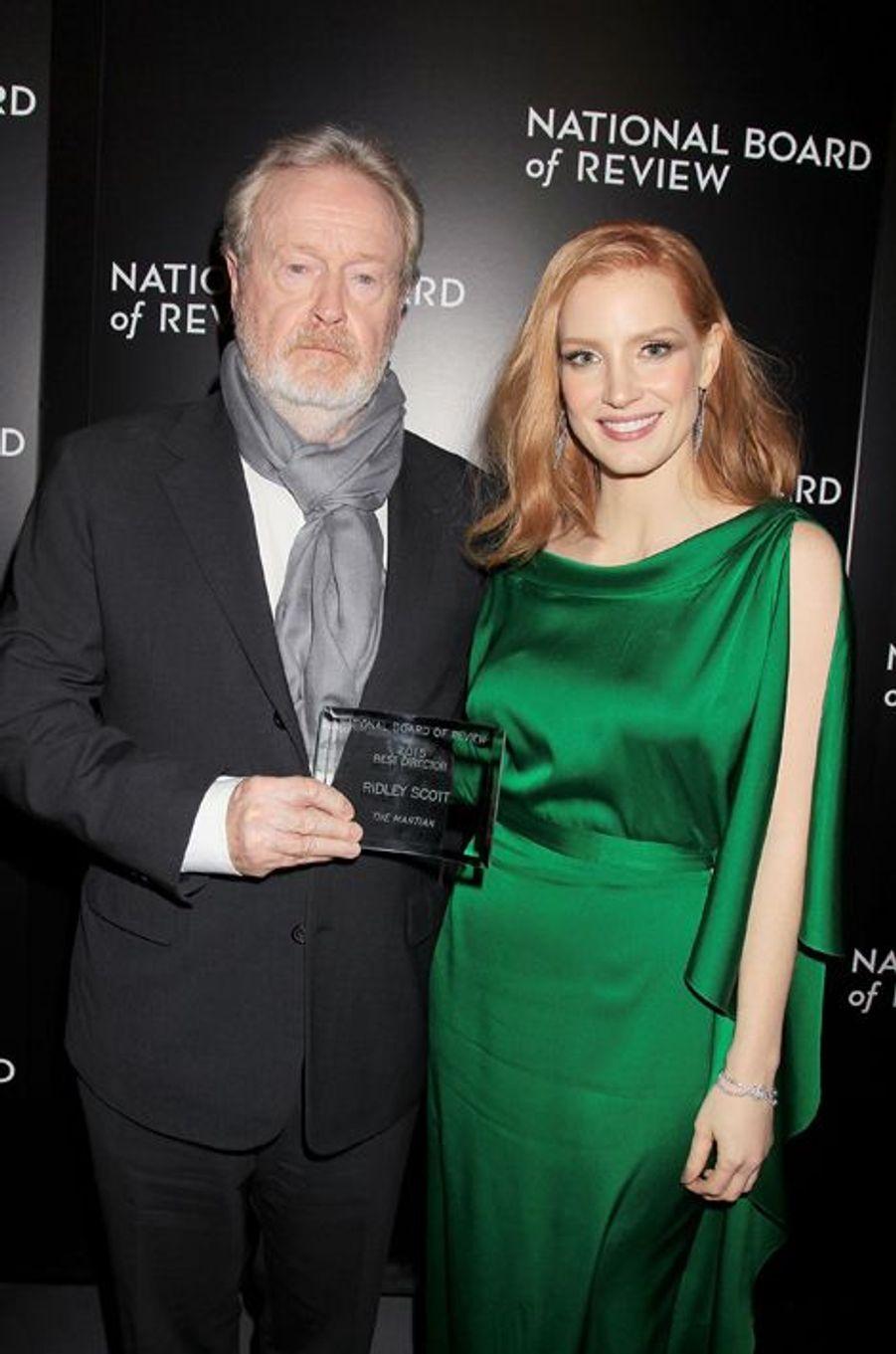 Ridley Scott et Jessica Chastain