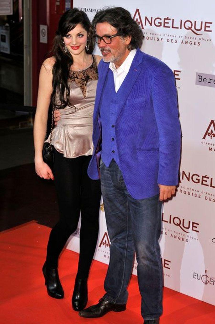 Le réalisateur Christophe Barratier et son amie Gwendoline