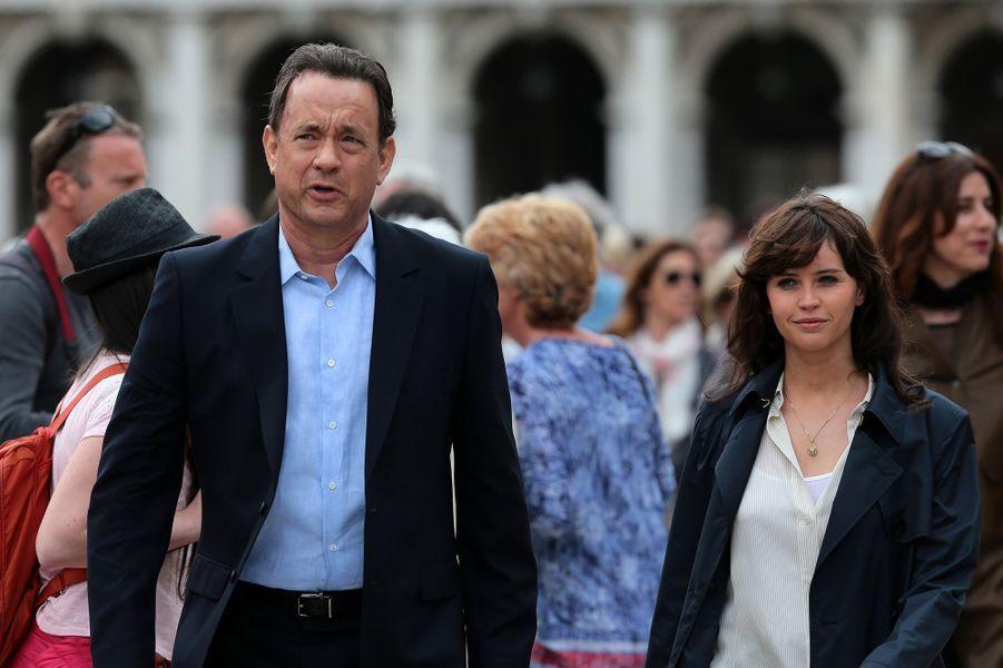 Tom Hanks et Felicity Jones à Venise le 28 avril 2015
