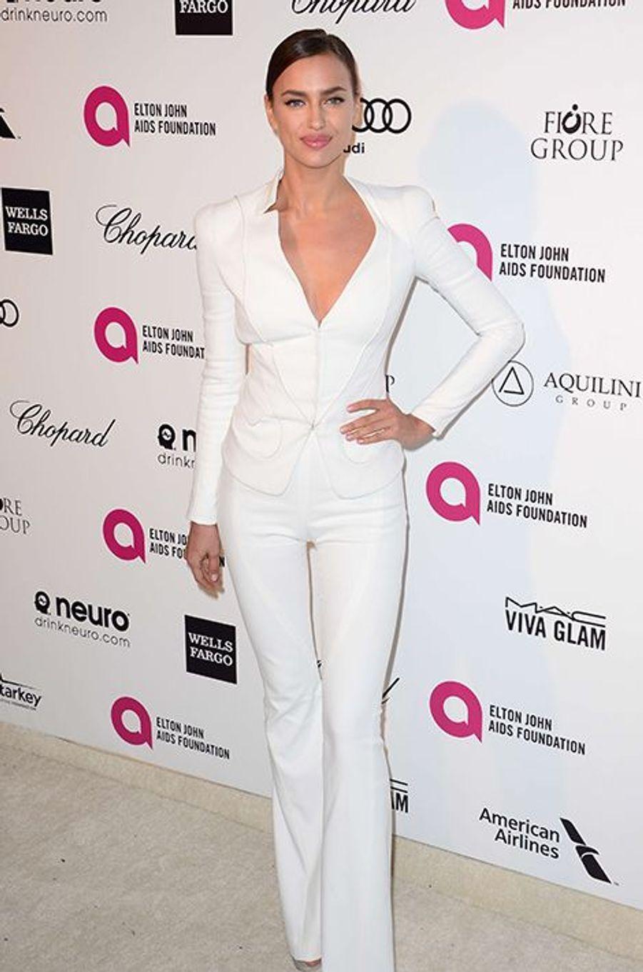 Irina Shayk à Los Angeles le 22 février 2015