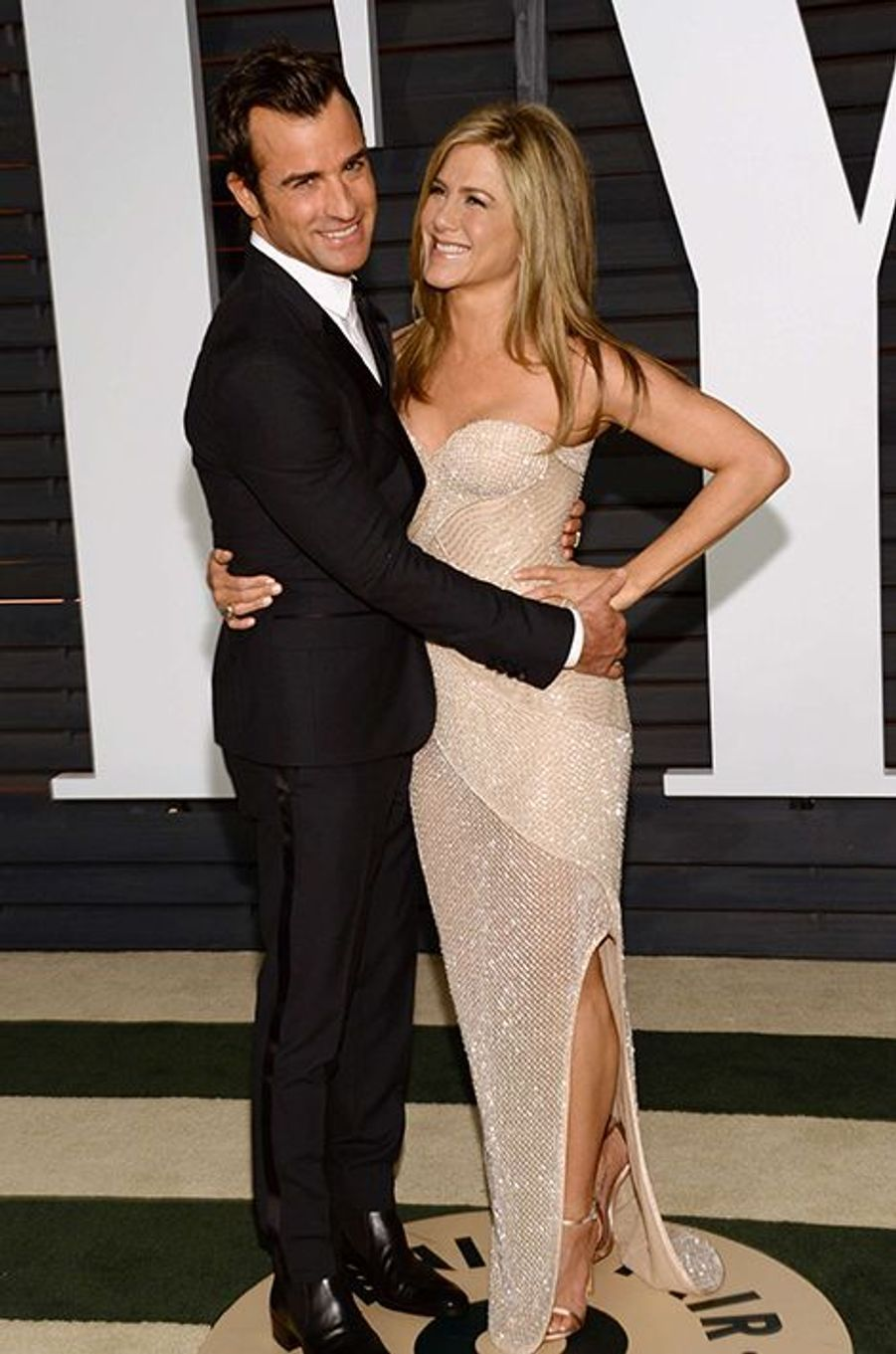 Justin Theroux et Jennifer Aniston à Los Angeles le 22 février 2015