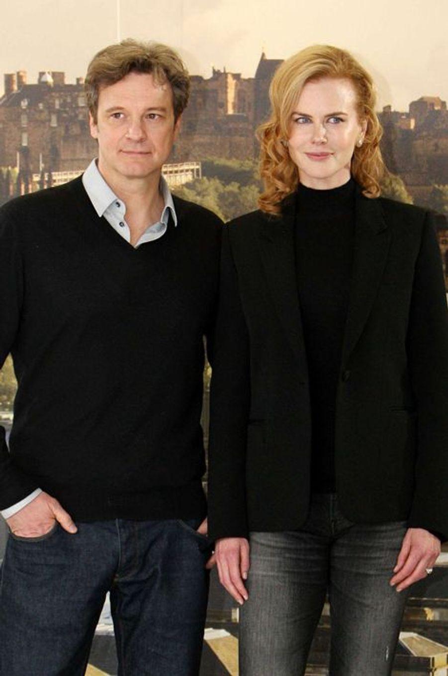 Ces trois dernières années, le comédien britannique et l'actrice australienne ont travaillé sur deux films ensemble : le drame «Les Voies du destin», sorti en 2013, et plus récemment «Avant d'aller dormir», dans lequel ils donnaient la réplique à Mark Strong.