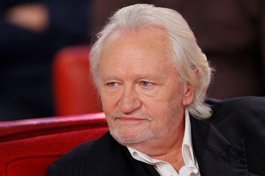 """Niels Arestrup lors de l'enregistrement de """"Vivement Dimanche"""" Patrick Chesnais, le 14 janvier 2015"""
