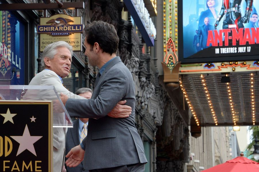 Michael Douglas et Paul Rudd à Los Angeles le 1er juillet 2015