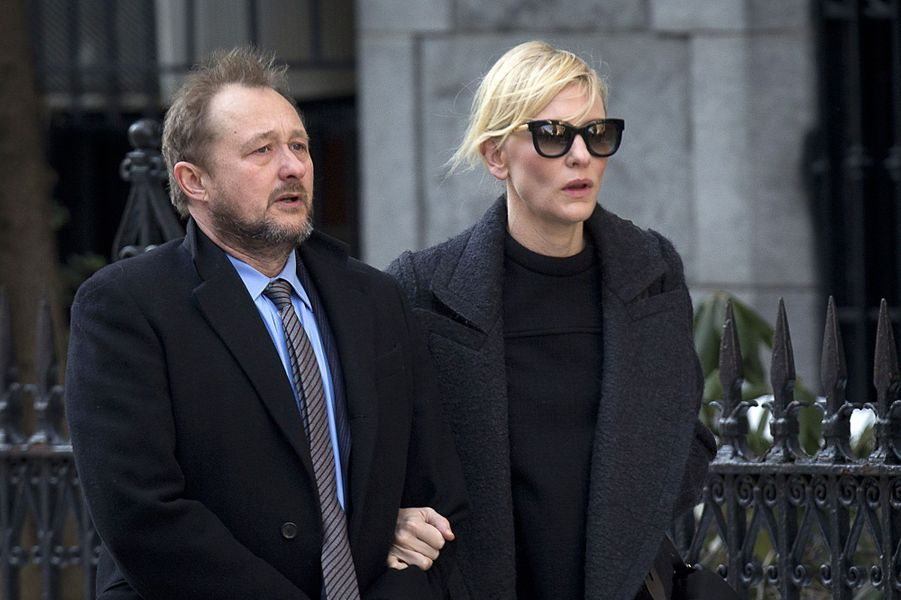 Cate Blanchett, accompagnée par son mari Andrew Upton. L'actrice avait tourné «Le Talentueux Mr. Ripley» avec Philip Seymour Hoffman.