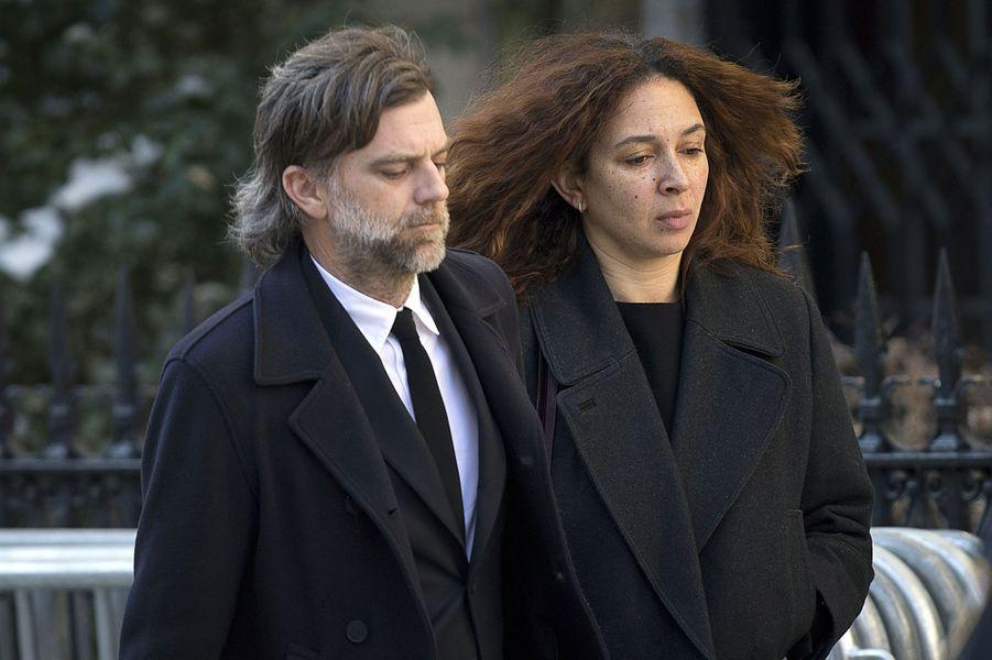 Le réalisateur Paul Thomas Anderson, dont Philip Seymour Hoffman était l'acteur fétiche, avec sa compagne, l'actrice Maya Rudolph.