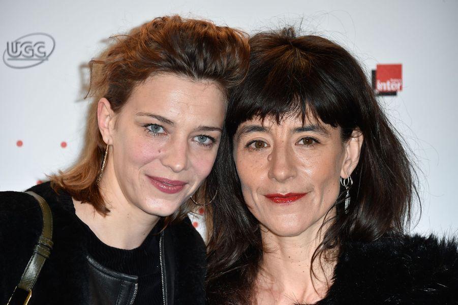 Céline Sallette et Romane Bohringer à Paris le 26 mars 2015