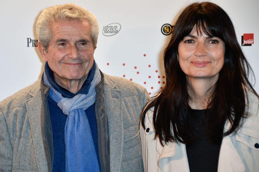 Claude Lelouch et sa compagne à Paris le 26 mars 2015