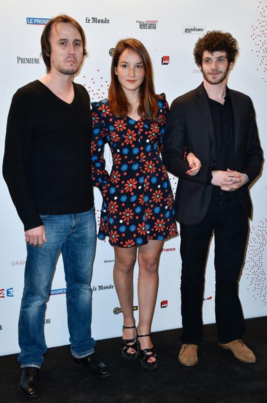 Jérôme Bonnell, Anaïs Demoustier et Félix Moati à Paris le 26 mars 2015