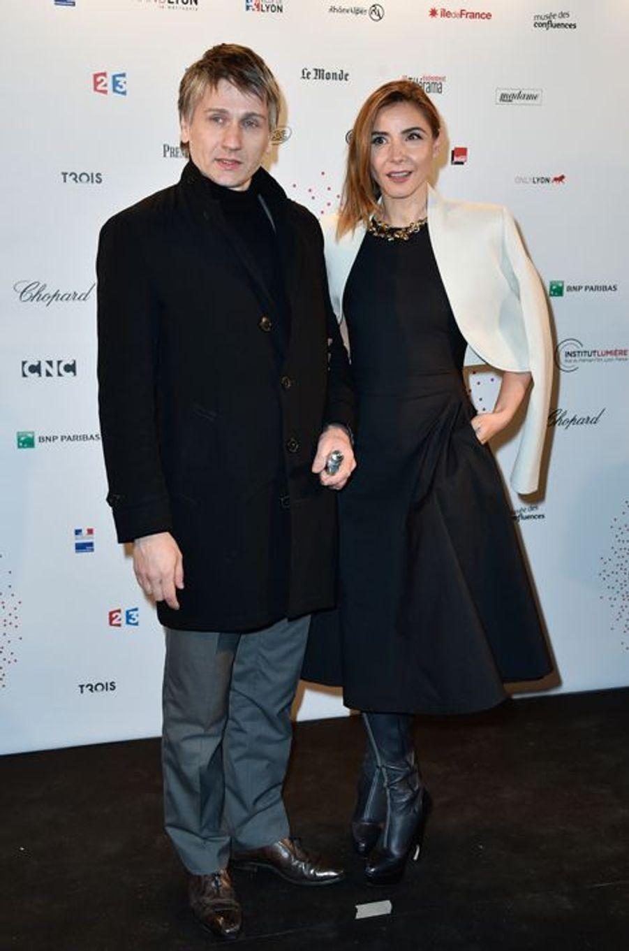 Stanislas Merhar et Clotilde Courau à Paris le 26 mars 2015