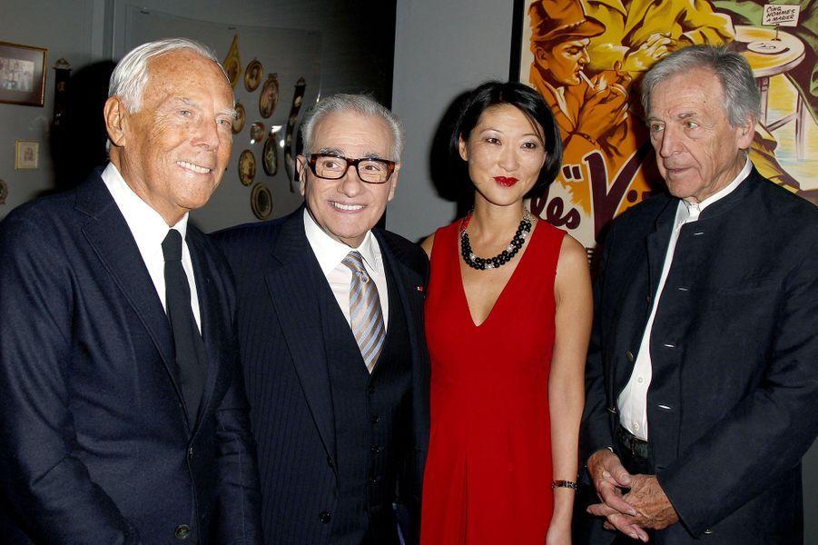 Giorgio Armani, Martin Scorsese, Fleur Pellerin et Costa Gavras