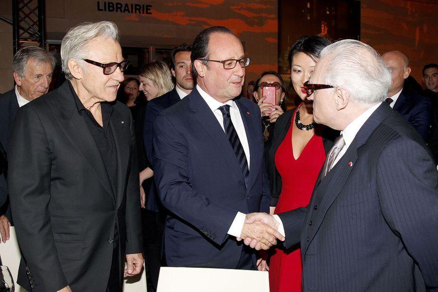 Harvey Keitel, François Hollande, Fleur Pellerin et Martin Scorsese