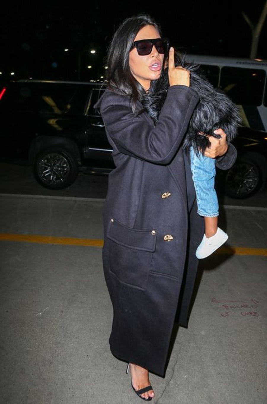 Kim Kardashian et sa fille à Los Angeles le 5 septembre 2015