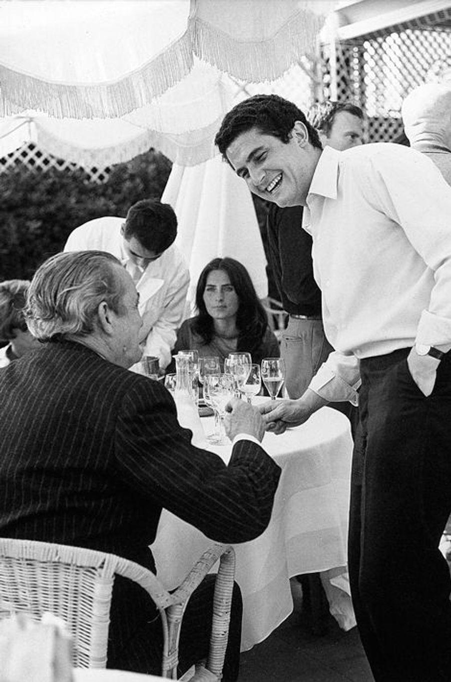 Claude Lelouch et Marcel Pagnol au Festival de Cannes, mai 1966