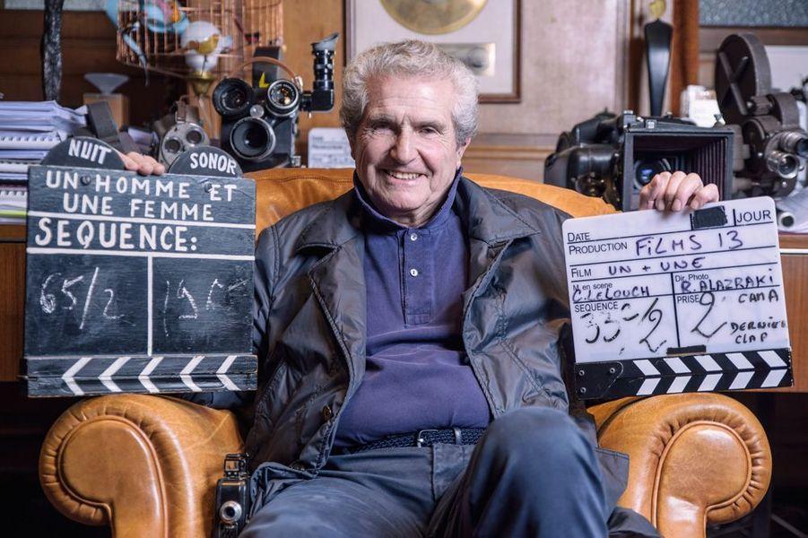 """Claude Lelouch présente à Match son dernier film """"Un + Une"""", 2015"""