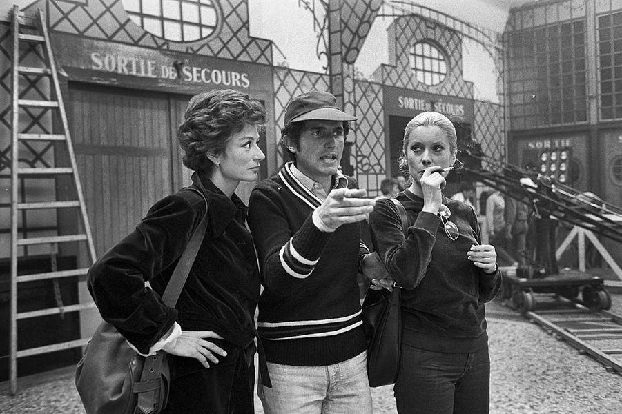"""Sur le tournage de """"Si c'était à refaire"""", 1976"""