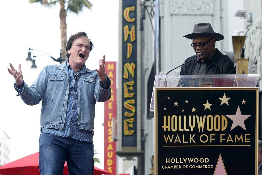 Quentin Tarantino et Samuel L. Jackson à Los Angeles le 21 décembre 2015
