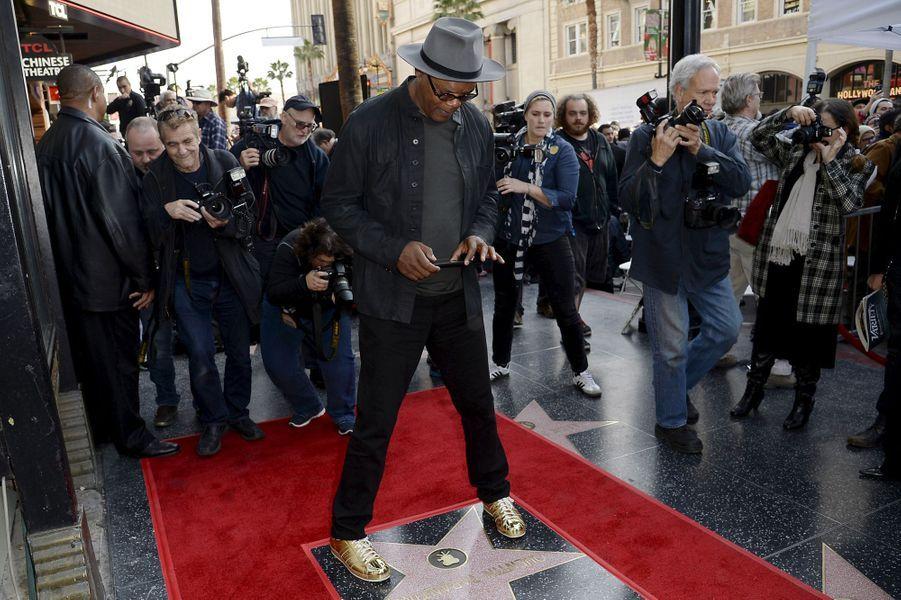 Samuel L. Jackson à Los Angeles le 21 décembre 2015