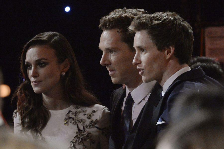 Keira Knightley, Benedict Cumberbatch et Eddie Redmayne