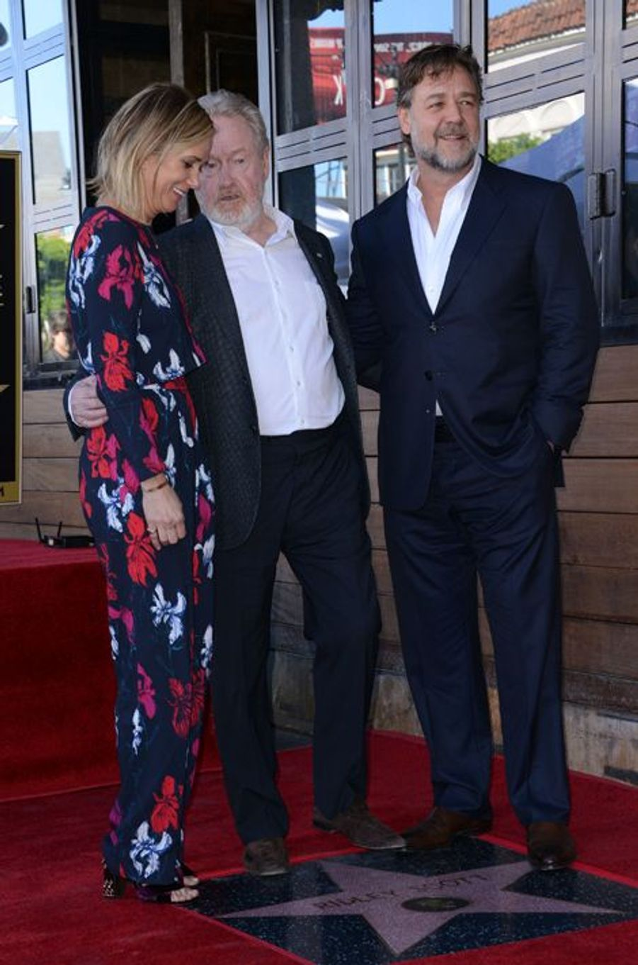 Kristen Wiig, Ridley Scott et Russell Crowe