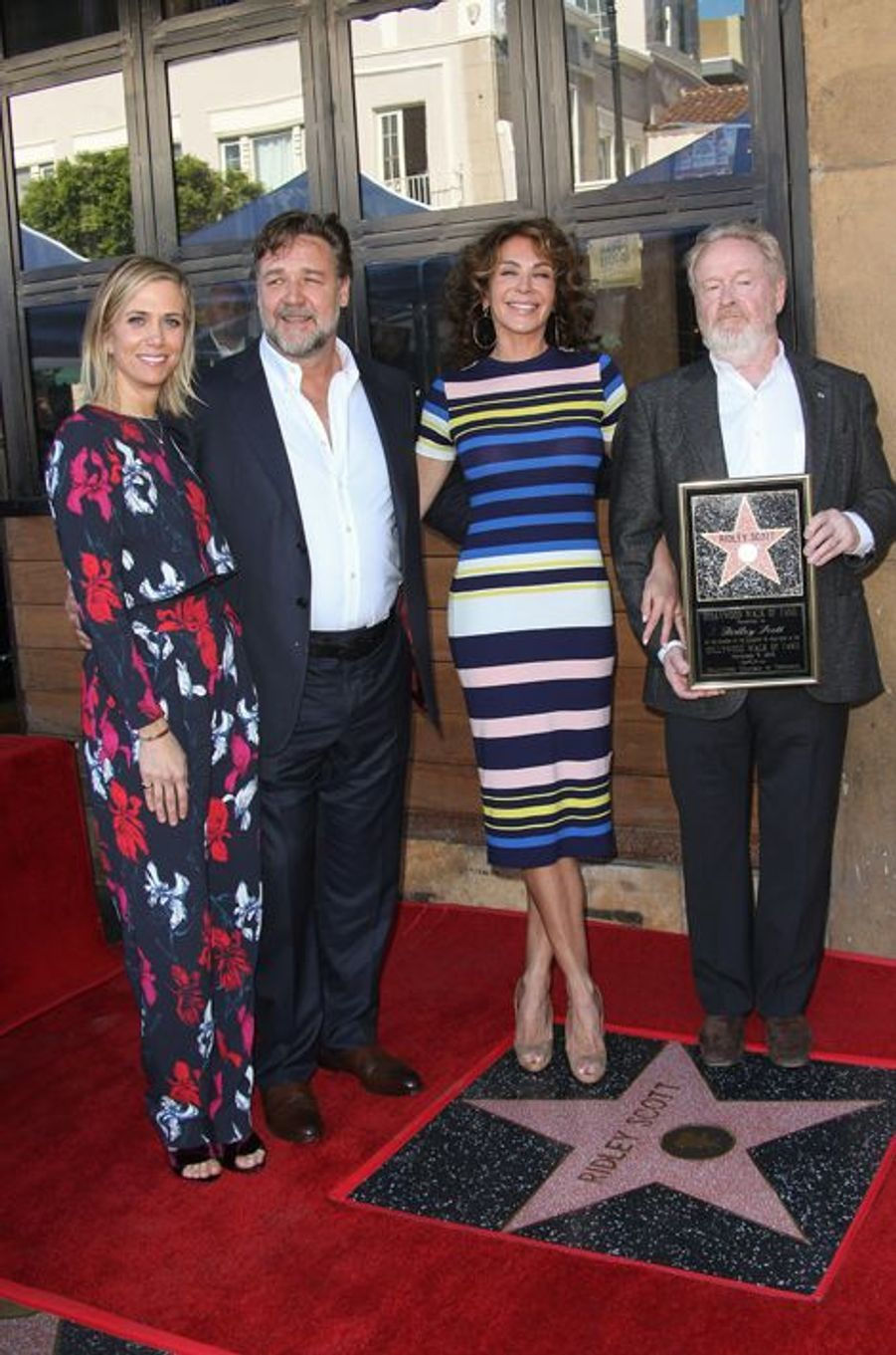 Kristen Wiig, Ridley Scott, Giannina Facio et Ridley Scott