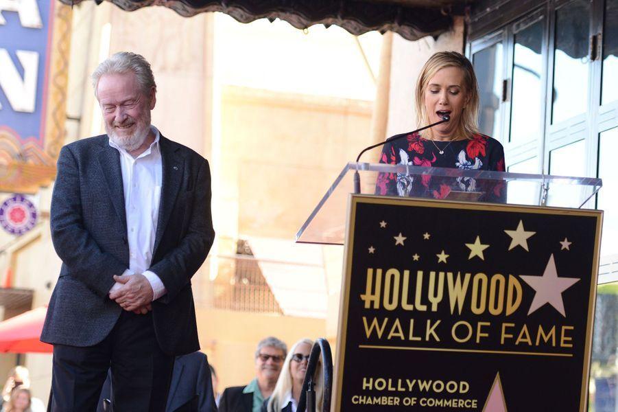 Ridley Scott et Kristen Wiig