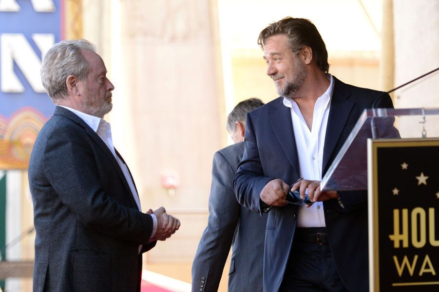 Ridley Scott et Russell Crowe