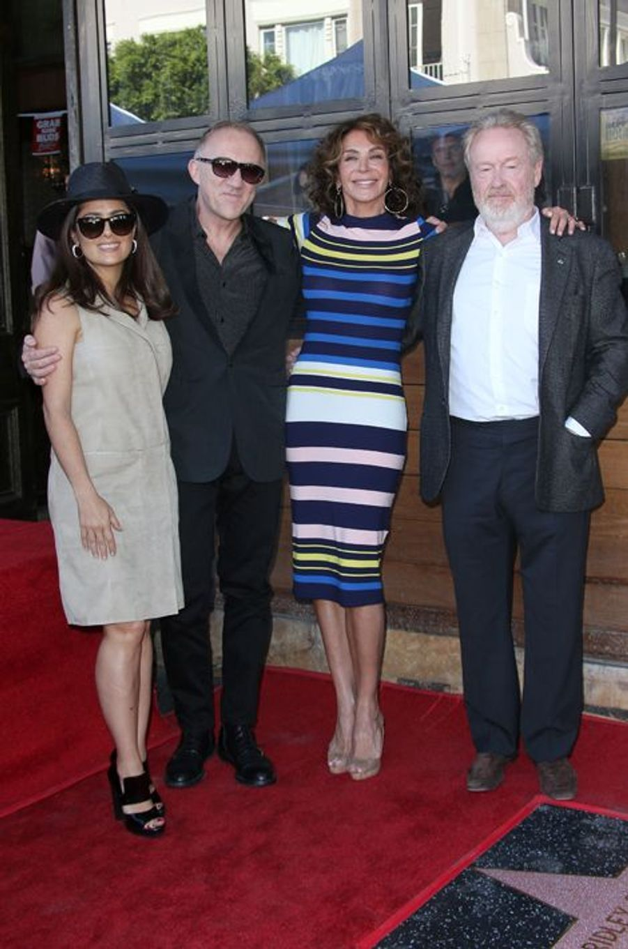 Salma Hayek, François-Henri Pinault, Giannina Facio et Ridley Scott