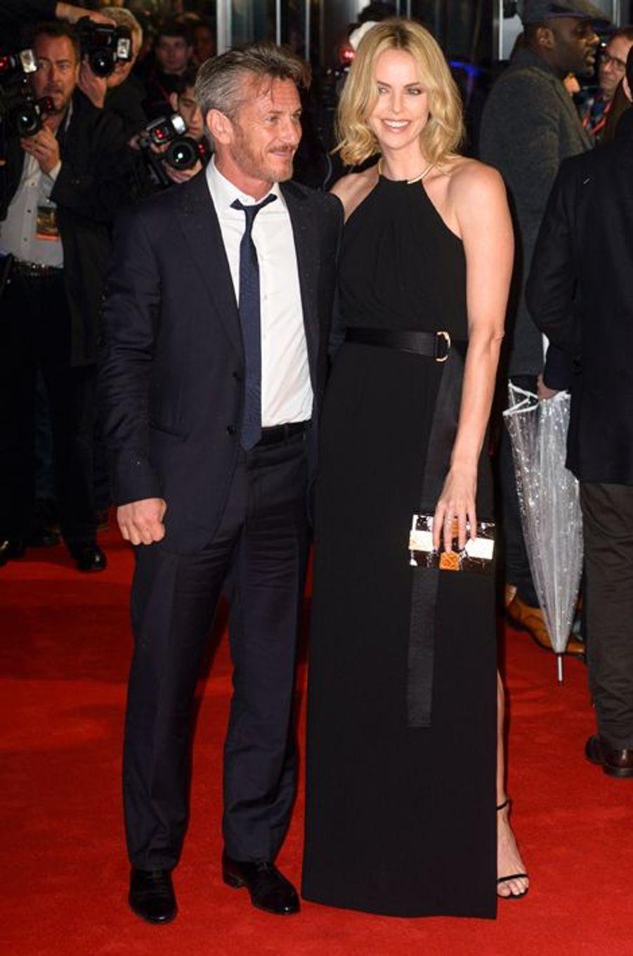 Sean Penn et Charlize Theron à Londres le 16 février 2015