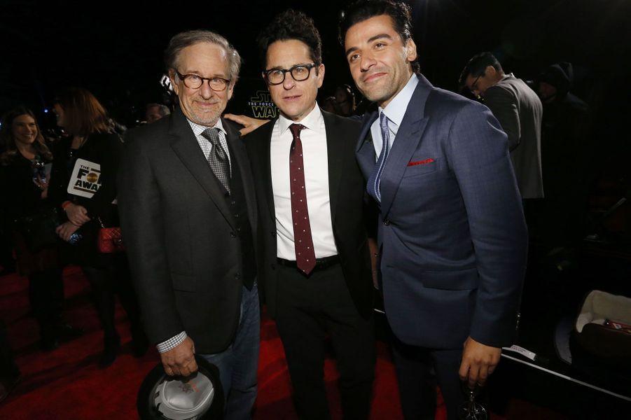 Steven Spielberg, J.J. Abrams et actor Oscar Isaac