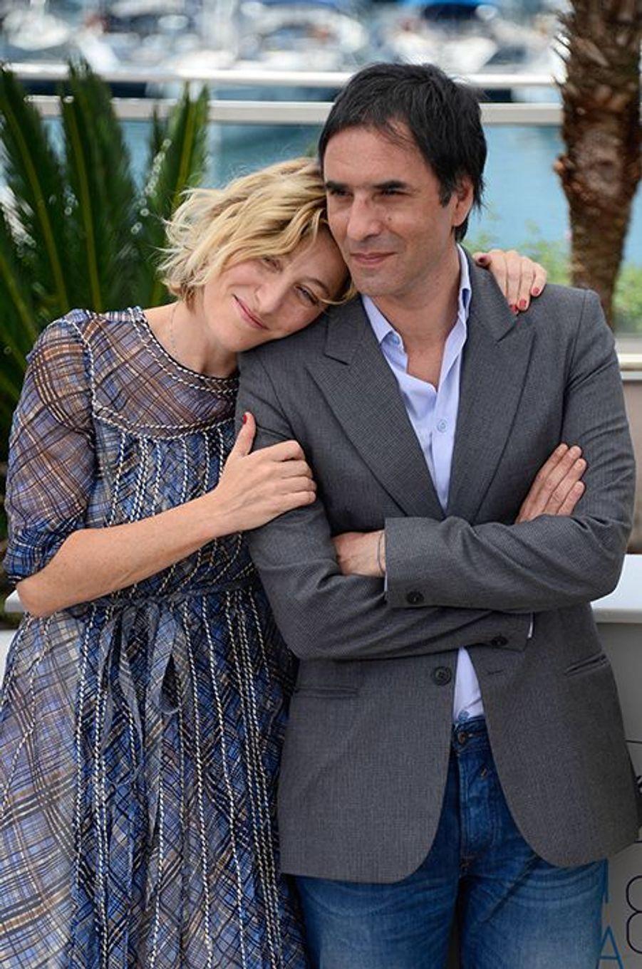 Valeria Bruni-Tedeschi et Samuel Benchetrit à Cannes le 17 mai 2015