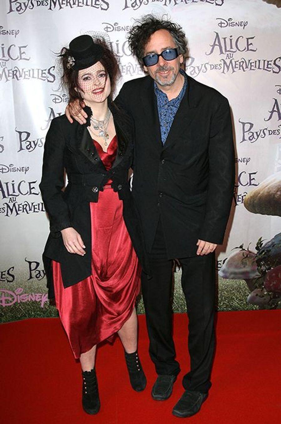 """À l'avant-première du film """"Alice au pays des Merveilles"""", à Paris le 15 mars 2010"""