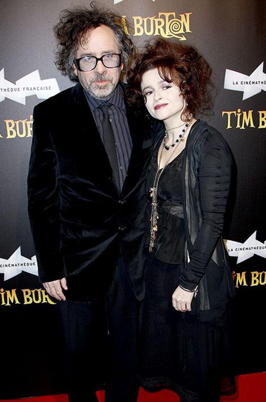 """À l'inauguration de l'exposition """"Tim Burton"""", organisée à la Cinémathèque française, à Paris le 4 mars 2012"""