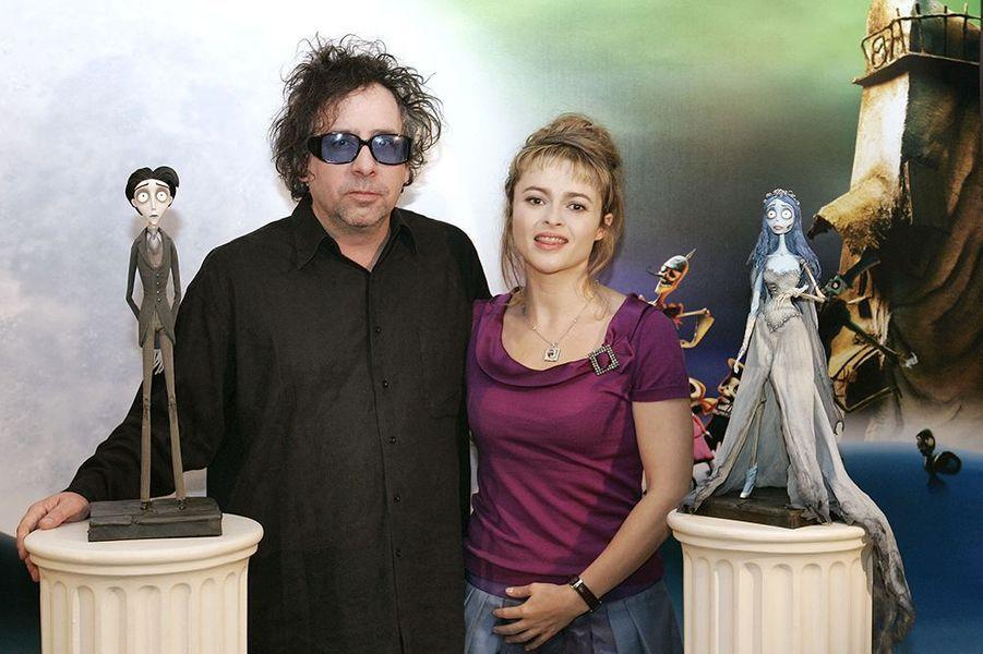 """À la conférence de presse organisée pour la sortie du film """"Les noces funèbres"""", à Paris le 26 septembre 2005"""