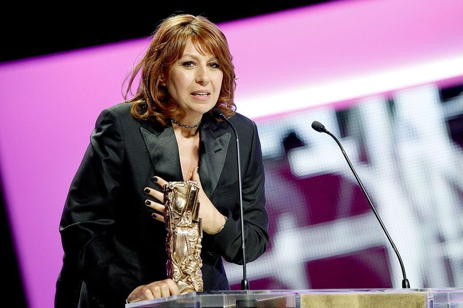 """L'actrice reçoit le César du Meilleur Second rôle pour """"Le Prénom"""" à la 38e Cérémonie des César, le 22 février 2013"""