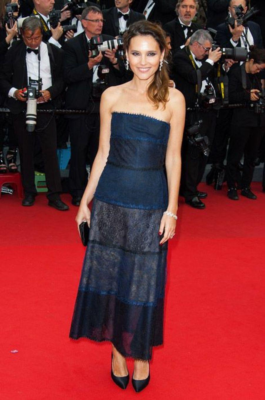 En robe bustier et dentelle à Cannes pour le festival, en 2013