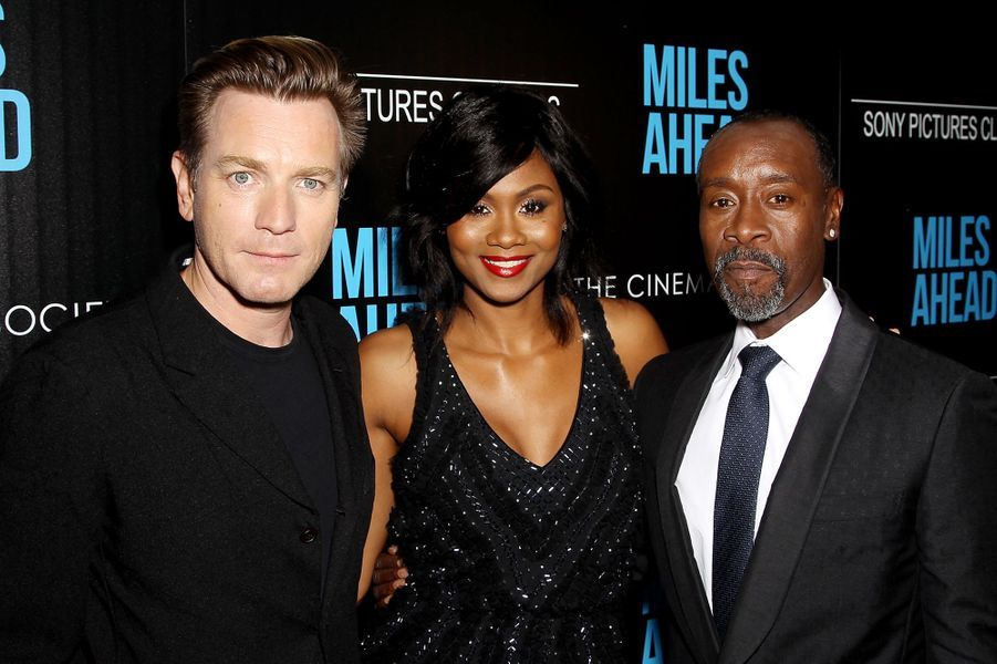 Ewan McGregor, Emayatzy Corinealdi et Don Cheadle à New York le 23 mars 2016