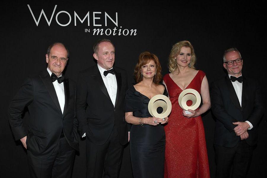 Pierre Lescure, Francois-Henri Pinault, Susan Sarandon, Geena Davis et Thierry Fremaux