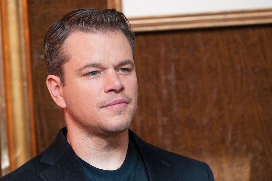 Matt Damon, au Bristol, à Paris, en 2014.