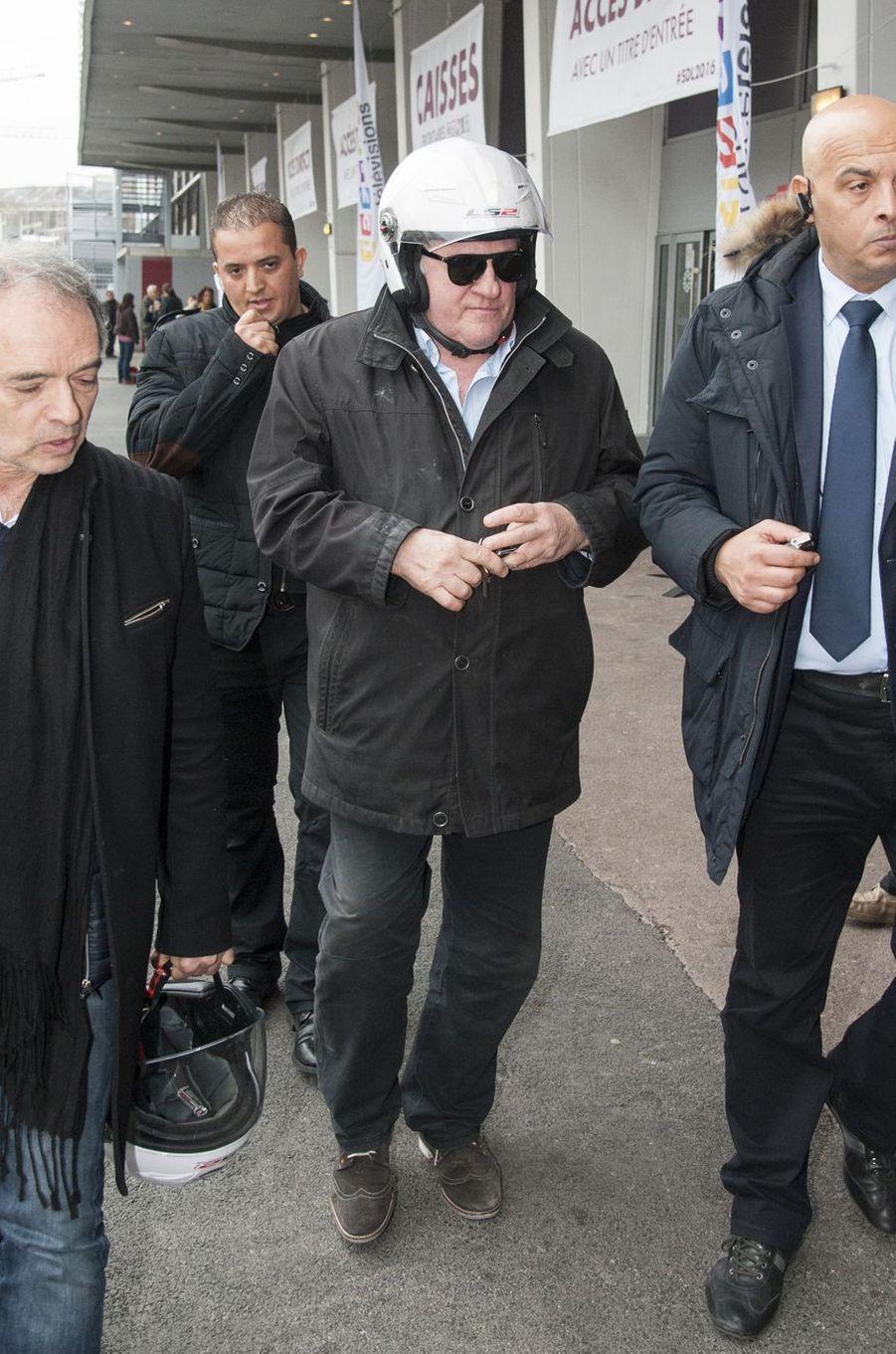 Gérard Depardieu à Paris le 20 mars 2016