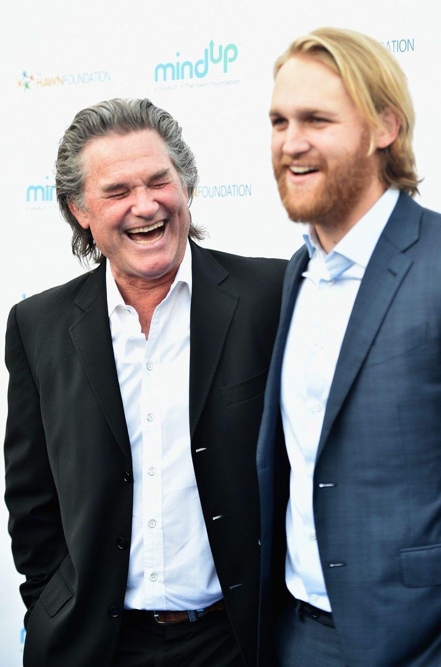 Rires partagés entre père et fils, Kurt Russell et Wyatt Russell