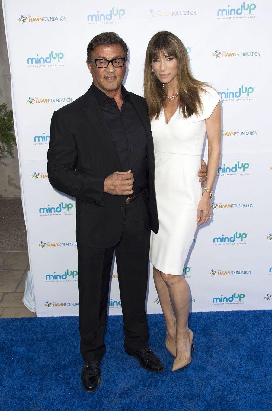 Sylvester Stallone avec son épouse Jennifer Flavin