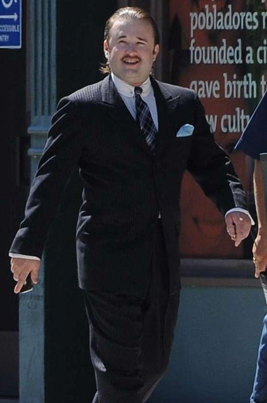 Haley Joel Osment sur le tournage de «Yoga Hosers» à Los Angeles, le 9 septembre 2014.