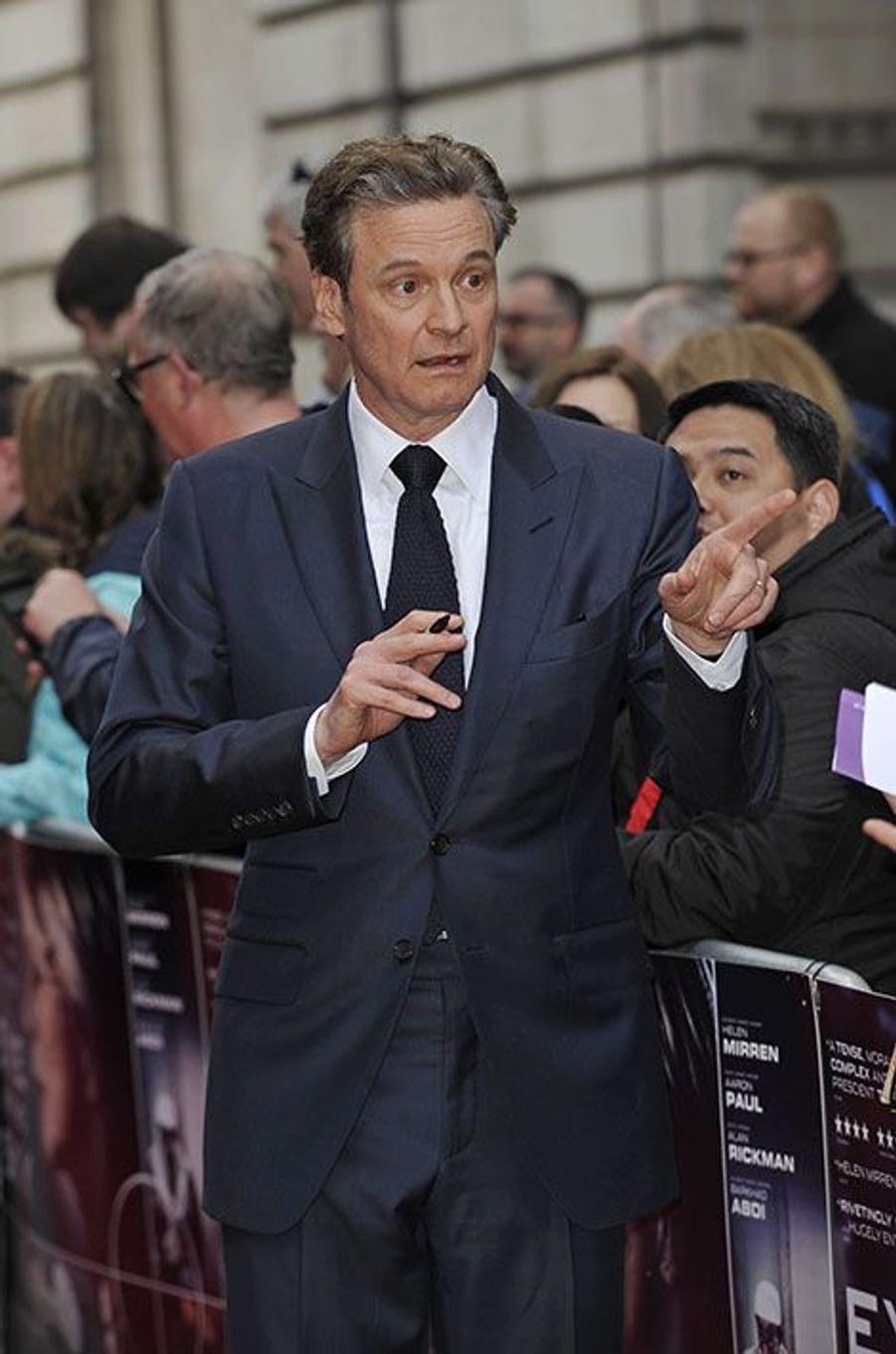 Colin Firth à Londres, le 11 avril 2016