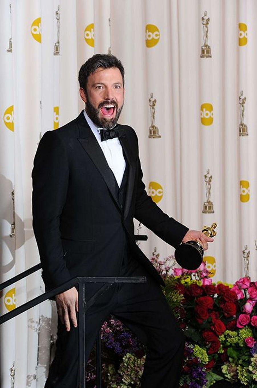 "Ben Affleck remporte trois Oscars pour ""Argo"", 2013"