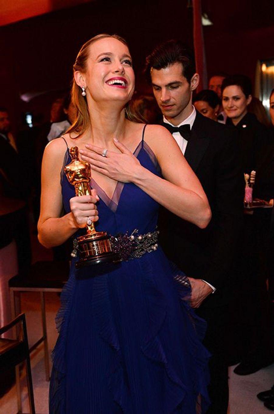 """Brie remporte l'Oscar de la Meilleure actrice pour """"Room"""", 28 février 2016"""