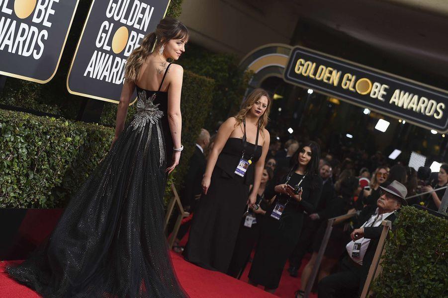 Dakota Johnson à la cérémonie des Golden Globes en 2018.