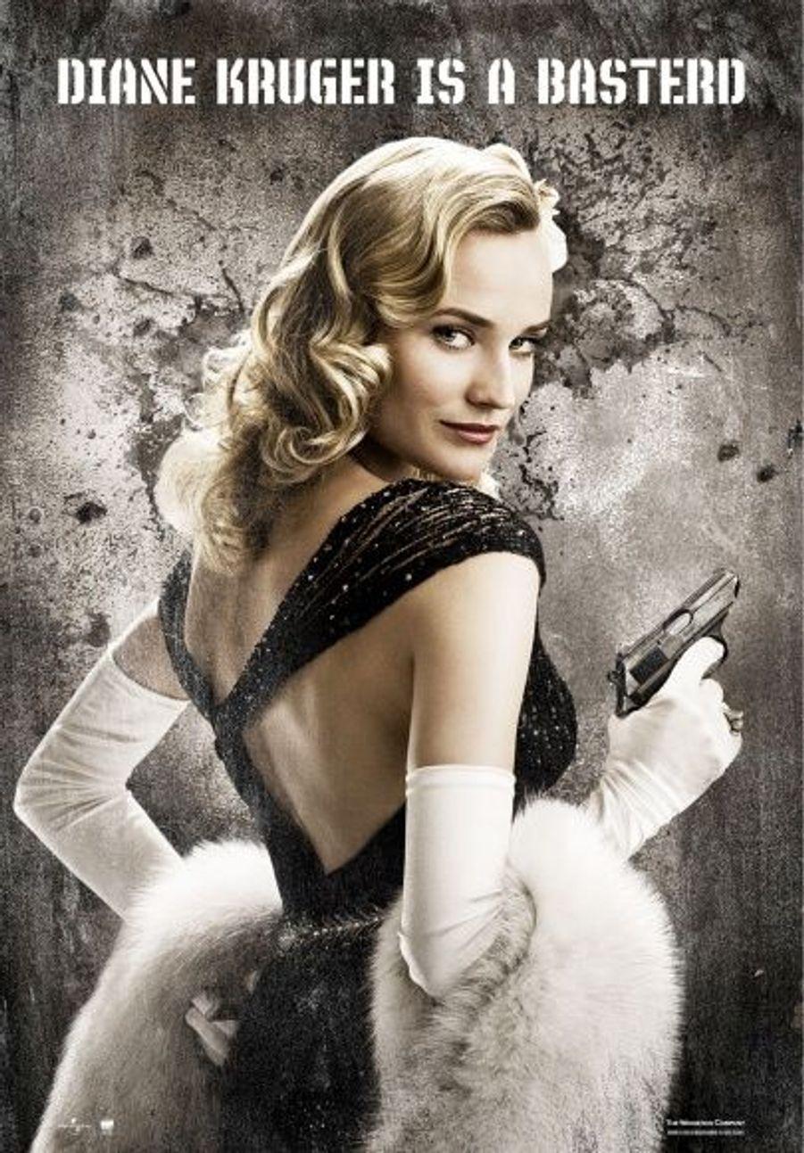 Dans Inglourious Basterds de Quentin Tarantino, elle incarne une espionne qui n'a pas froid aux yeux.