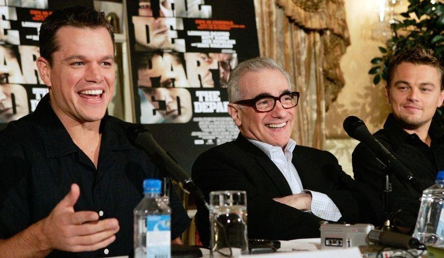 """En 2006, aux côtés de Leonardo DiCaprio dans """"Les infiltrés"""" de Martin Scorsese."""