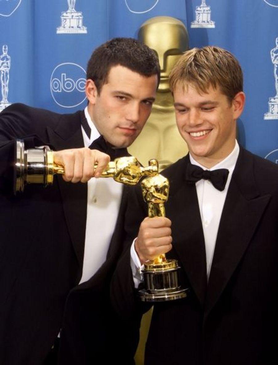 Will Hunting a remporté deux oscars, dont celui du meilleur scénario original pour Matt Damon et son compère Ben Affleck.